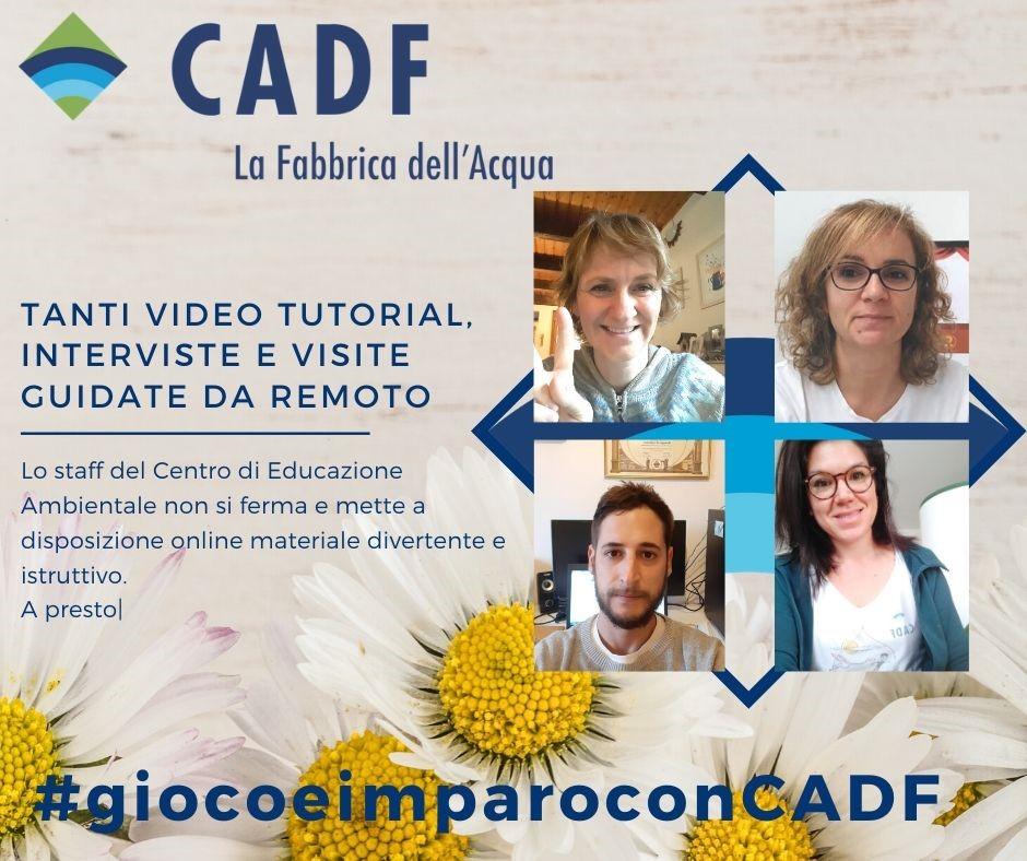 Nuove proposte del Progetto #giocoeimparoconCADF: didattica a distanza offerta da CADF per scuole e famiglie