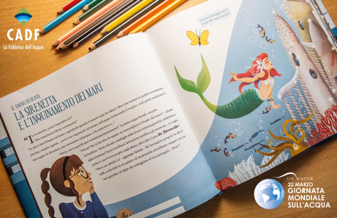 Giornata Mondiale dell'Acqua: CADF realizza e offre un libro didattico a scuole e biblioteche del territorio