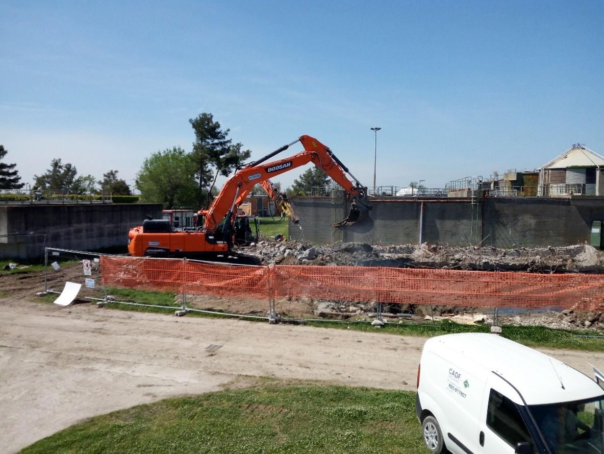 Depuratore Comacchio: nuove linee di stoccaggio fanghi
